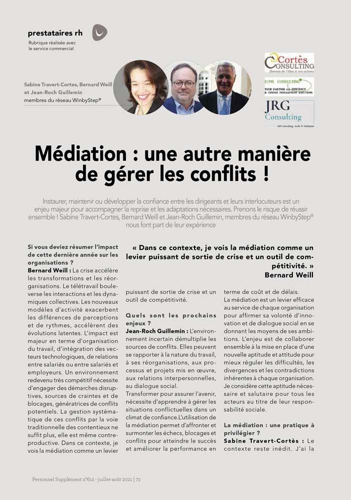 Médiation : une autre manière de gérer les conflits !